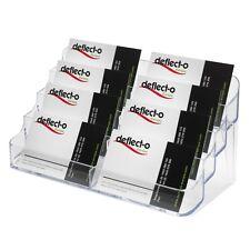 Business card holder retail counter dispenser holder 8 pocket multi table top