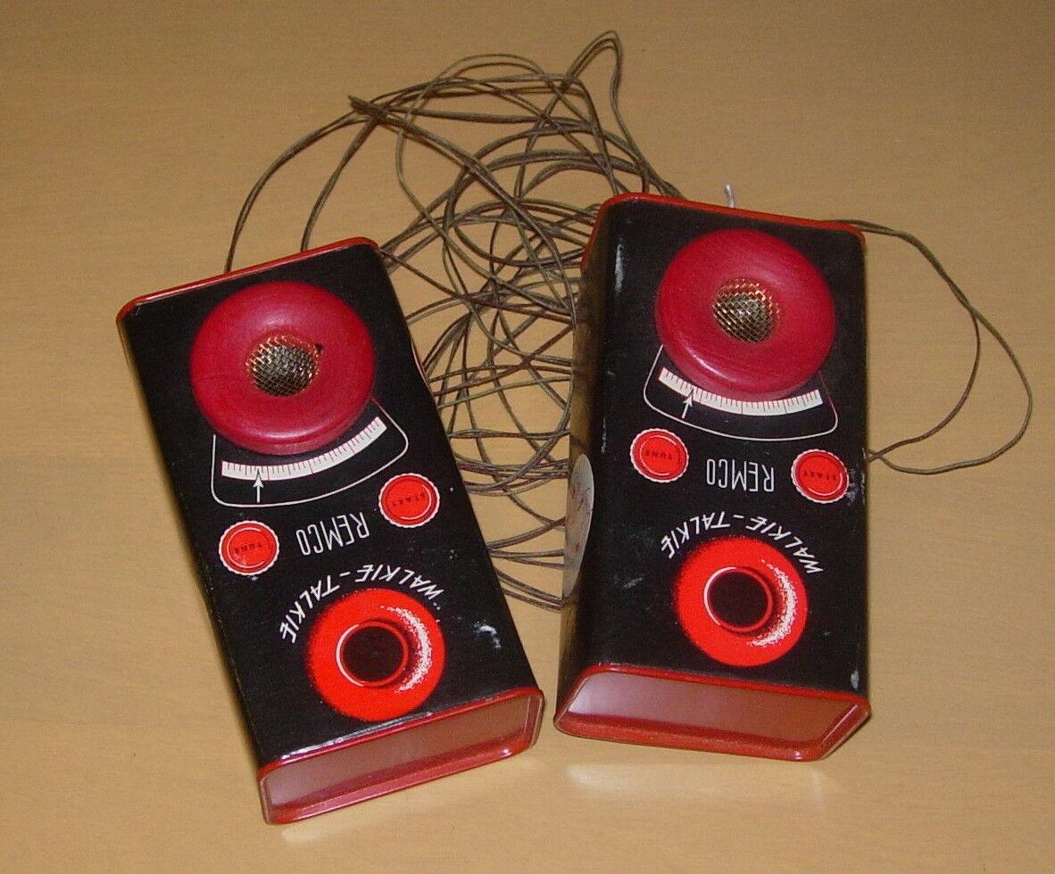 Remco Walkie Talkies 1949 Precoz Producto Con Instrucciones