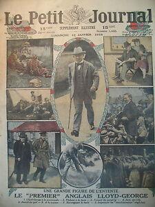 ANGLETERRE-PREMIER-MINISTRE-LLOYD-GEORGE-PORTRAIT-LE-PETIT-JOURNAL-1919