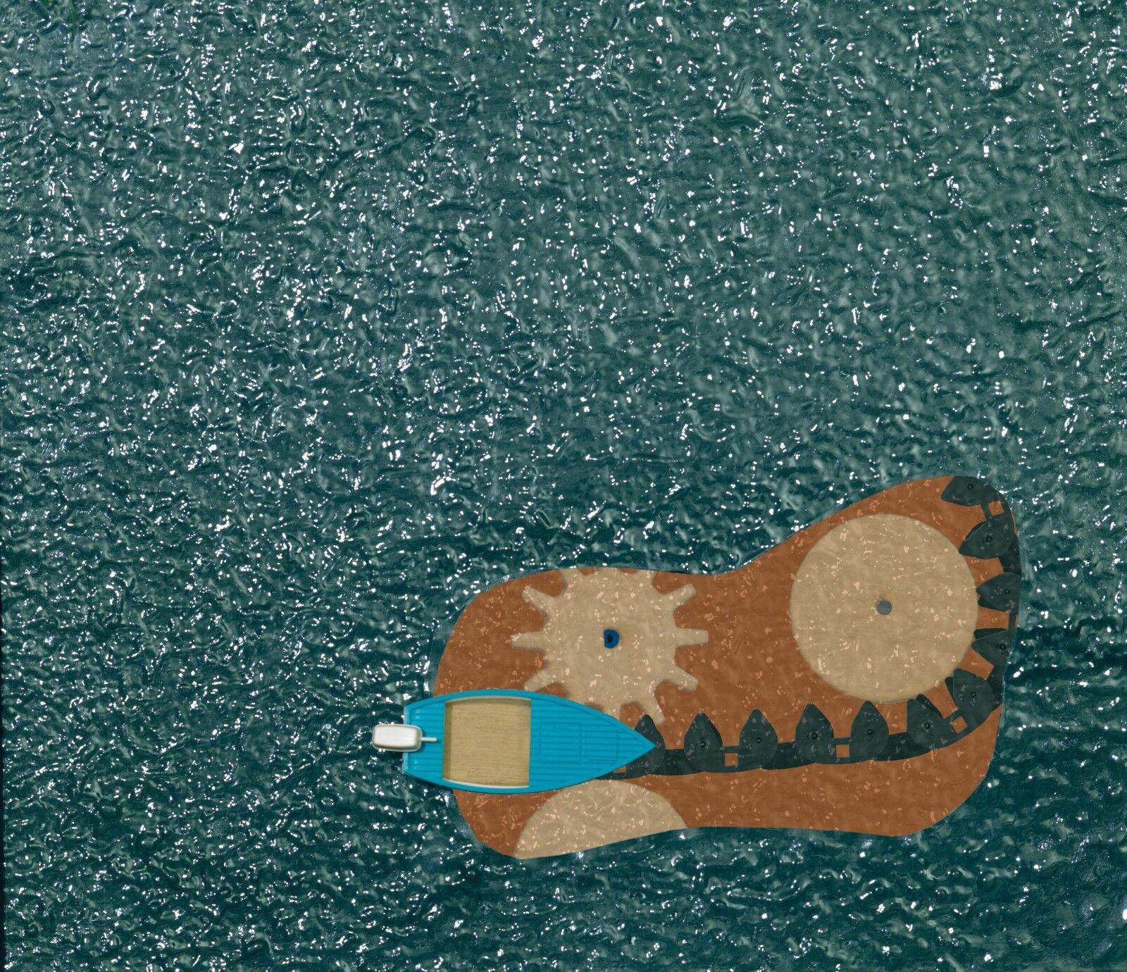 Busch 5485 traccia h0 lago con voltati polizia barca  neu in OVP