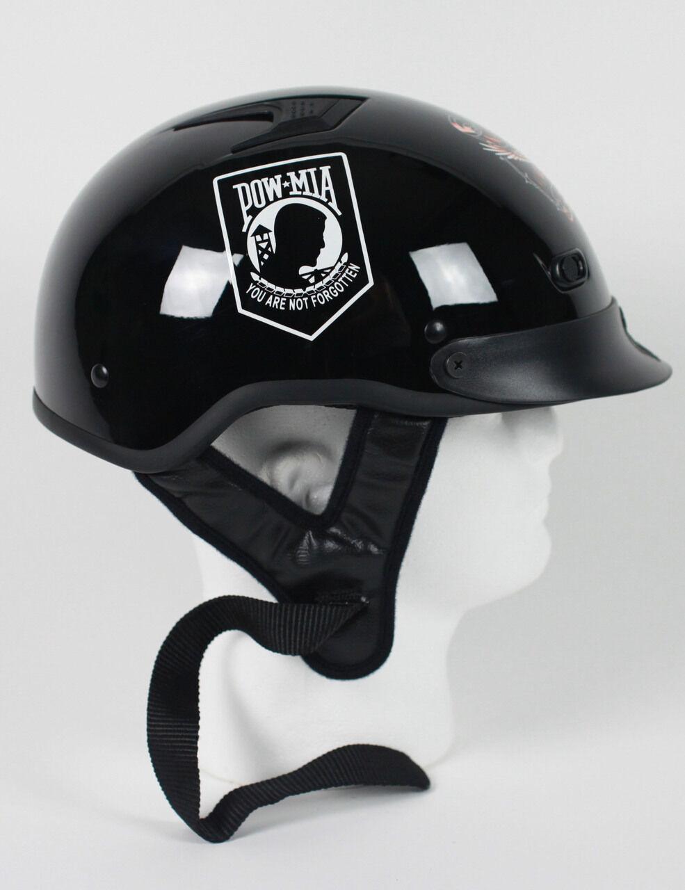 D.o.t. ventilados POW MIA casco de motocicleta Medio casco Beanie Shorty Encendedor Nuevo
