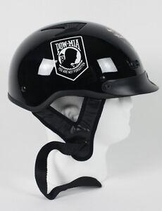 D.O.T. VENTED POW / MIA MOTORCYCLE HELMET HALF HELMET BEANIE SHORTY LIGHTER NEW