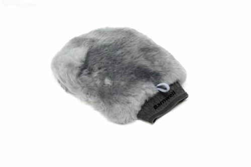 Barnwell Deep Pile Lambs Wool Grey Wash Mitt with Bug Netting Sheepskin Car Van
