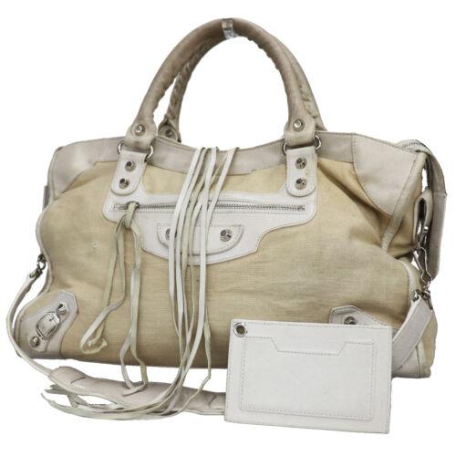 Balenciaga Sac Vintage cuir Italia blanc City Auth The en zSMVqUp