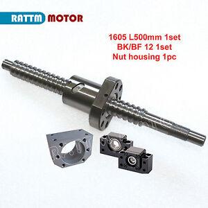 Ballscrew SFU/RM1605-500mm+BK/BF 12+Nut for CNC Router Milling Engraving Machine