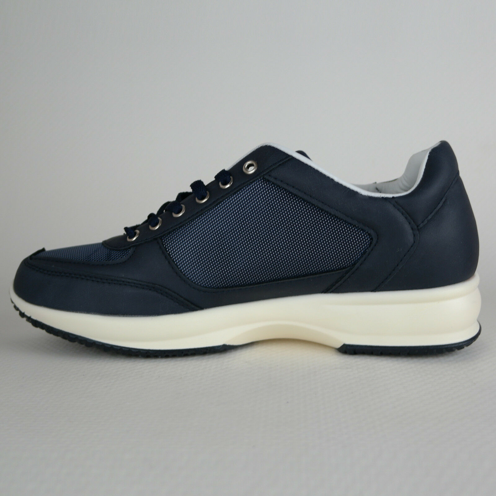 Scarpe UOMO pelle Classica Sportiva Blu Tessuto eco pelle UOMO Sneakers Stringate Scarpa 84d17a