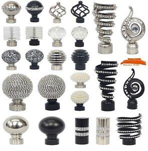 PALO-di-Metallo-per-Tende-Confezione-da-2-Ornamenti-finisce-per-pali-diametro-28-mm