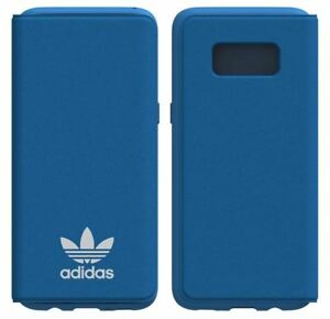 purchase cheap a0795 bc2ce Details about GENUINE ADIDAS ORIGINALS BLUE LEATHER FLIP CASE BOOKLET FOR  SAMSUNG GALAXY S8