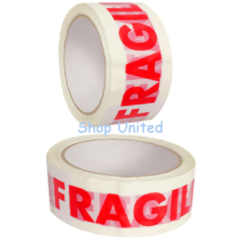 Colour Caution Fragile Packing Tape Sellotape Packaging Brown Tape 50MM x 66M