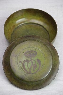 Alte Jugendstil Bronze Dose Deckeldose Mit Blumen Motiv High Quality And Low Overhead Bronze