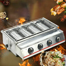Stainless Steel Outdoor Four Burner Commercial Use Lpg Gas Bbq Grill For Picnic