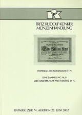 World German Paper Europe Paper Money & Banknotes Collection - Auction Catalog