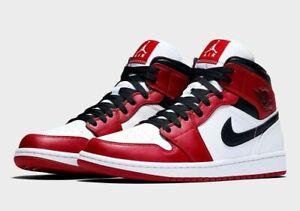 Nike Air Jordan 1 Mid Shoes Chicago 2020 Red White Black 554724-173 Men's or GS