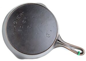 Vintage-Block-Lettered-Wagner-Ware-No-6A-Cast-Iron-Skillet-Ex-Restored-Cond
