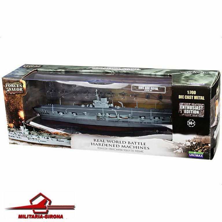entrega de rayos FORCES OF VALOR 1 700 700 700 AIRCRAFT CocheRIER ROYAL NAVY 86007 HMS ARK ROYAL Atlántic  forma única