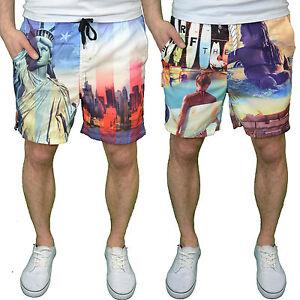 Soulstar-Diseno-Hombre-Shorts-de-bano-Disponible-En-EUA-amp-SURF-estampado