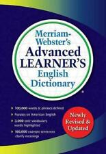 Merriam-Webster's Advanced Learner's English Dictionary (2016, Paperback, New Edition)