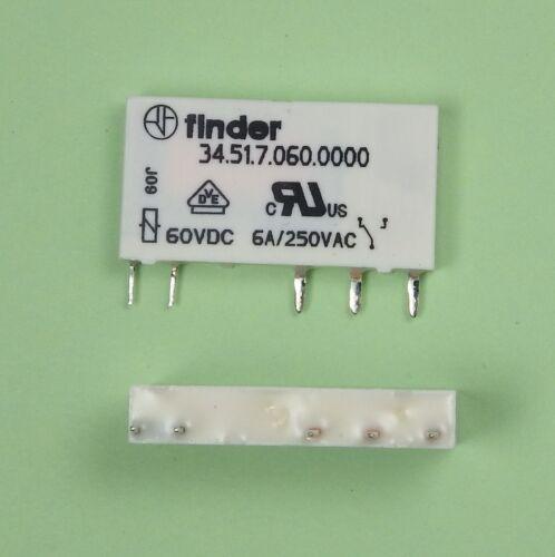 Ersatz f 38.51.8.230.0060 Finder Print Relais 60V DC 1xUM 6A 34.51.7.060.0010