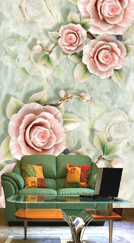 3D PInk Flower Bloom 7 Wallpaper Mural Wall Print Wall Wallpaper Murals US Carly