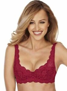 LACE UNDERWIRED TRIUMPH AMOURETTE 300 WHP PADDED CUP BRA IN PACHA RED