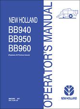 New Holland BB940 BB950 BB960 Large Square Baler Operators Manual (B355)