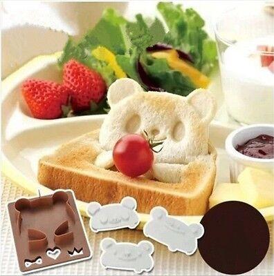 Durable Panda Frog Toast Sandwich Mold Bread Cutter Bento DIY Maker Shaper Set Y