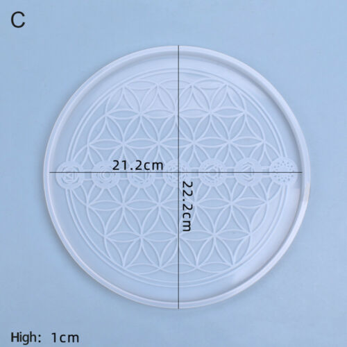 Resin Mold Magic Circle Compass Astrology Board Silicone Mold Tarot Divination