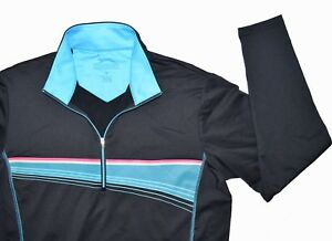 Slazenger-Golf-Ladies-Pullover-Size-Medium-Blue-1-2-Zip-Long-Sleeve-Stretch