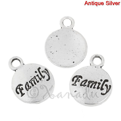 20 Or 50PCs Family Wholesale Antiqued Silver Plated Charm Pendant C1006-10
