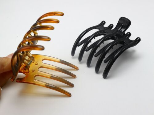 2Pcs Fashion Plastic Hair Pin Crimp 5-Prong Hair Alligator Clips For Women Girls