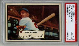 1952-Topps-16-Gene-Hermanski-BLACK-Back-PSA-8-Chicago-Cubs