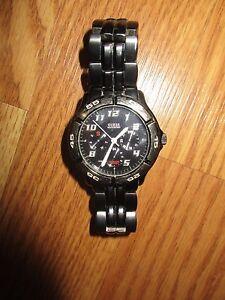 Men-039-s-GUESS-Waterpro-Watch-G95155G-50-M-water-resistant-needs-battery