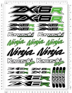 Kawasaki-Ninja-Racing-ZX-6R-Motorcycle-Decals-Fairing-ZX6R-Laminated-Stickers