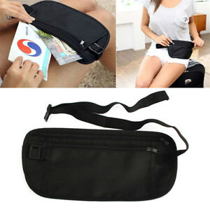 New-Slim-Travel-Pouch-Hidden-Compact-Security-Money-Passport-ID-Waist-Holder-Bag