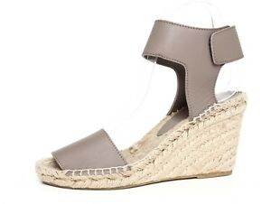 2337838c363 Vince Women's Taupe Wedge Leather Espadrille Wedge Sandal Sz 6M 4463 ...