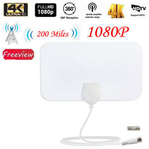 Antenna-TV-DVB-T2-200M-HDTV-Interna-Amplificata-Potente-HDTV-Digitale-DTT-DVB
