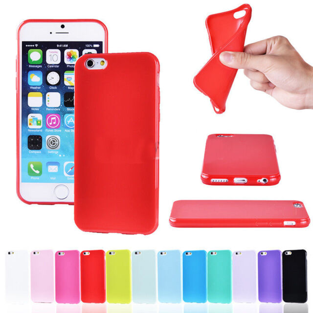 Candy Color Shockproof Thin Soft Silicone Matte Back Case Cover For iPhone 6 7