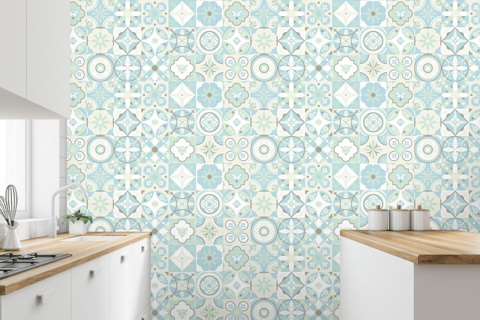 3D Grün Blaume Muster 3  Textur Fliesen Marmor Tapeten Abziehbild Tapete Wandbild