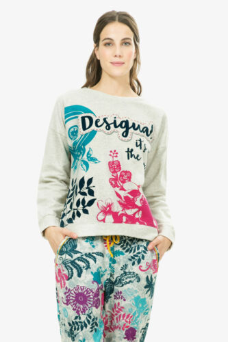 M ohne Etikett 51 DESIGUAL Sweatshirt Shirt  paisley bloom 67NL0B1Gr
