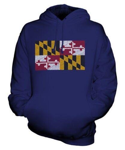 Maryland état Griffonnage Drapeau Sweat à Capuche Unisexe Football Haut Cadeau Football Unisexe c58db5