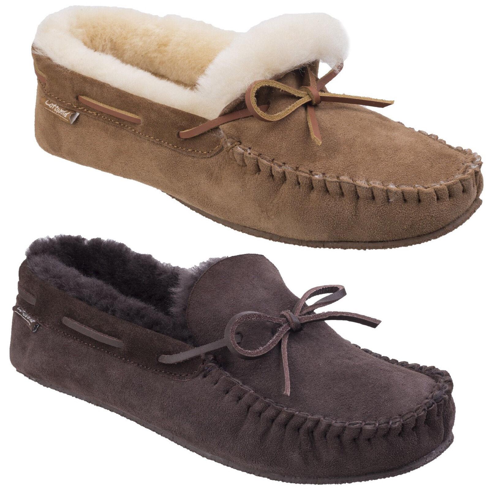 Cotswold CHASTLETON pelle di pecora MOCASSINI STILE CLASSICO, comfort Pantofole
