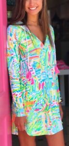 16c67f69dc NWT Lilly Pulitzer Hooded Rylie Dress UPF 50+ Multi Sea Salt and Sun ...