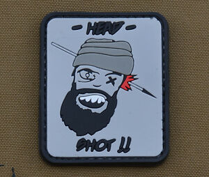 PVC-Rubber-Patch-034-Head-Shot-034-with-VELCRO-brand-hook