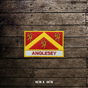 ANGLESEY-Flag-With-Name-Embroidered-Iron-On-Sew-On-Patch-Badge