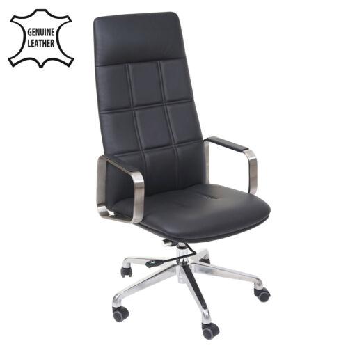 Kunstleder Edelstahl ISO9001 Bürostuhl HWC-A57 Voll-Leder Schreibtischstuhl