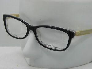 15be5cd49492 Image is loading New-KATE-SPADE-JESSALYN-0UYY00-Black-Pattern-Eyeglasses-