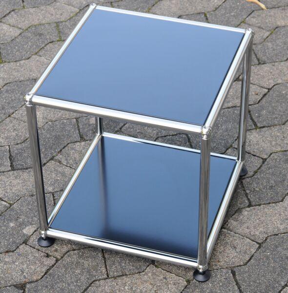1 Original Usm Haller Tavolino Tavolo Ral 9011 Nero 37x37x39cm Nuovo Per Soddisfare La Convenienza Delle Persone