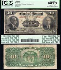 NICE *SCARCE* 1923 $10 Bank of Montreal CANADA Note! PCGS 10 PPQ! 1513223