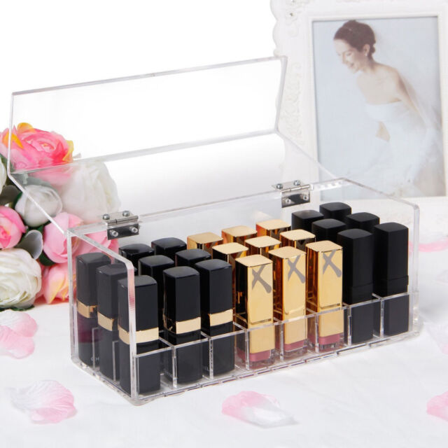 Langforth Lipstick Organizer Lipgloss Holder Makeup Storage 5mm Thick 24 Space