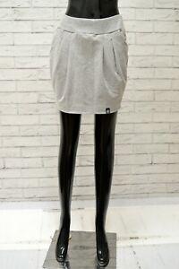 Gonna-CONVERSE-Donna-Taglia-Size-S-Pants-Skirt-Shorts-Woman-Cotone-Grigio-Corto